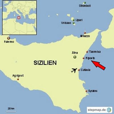 wo liegt sizilien